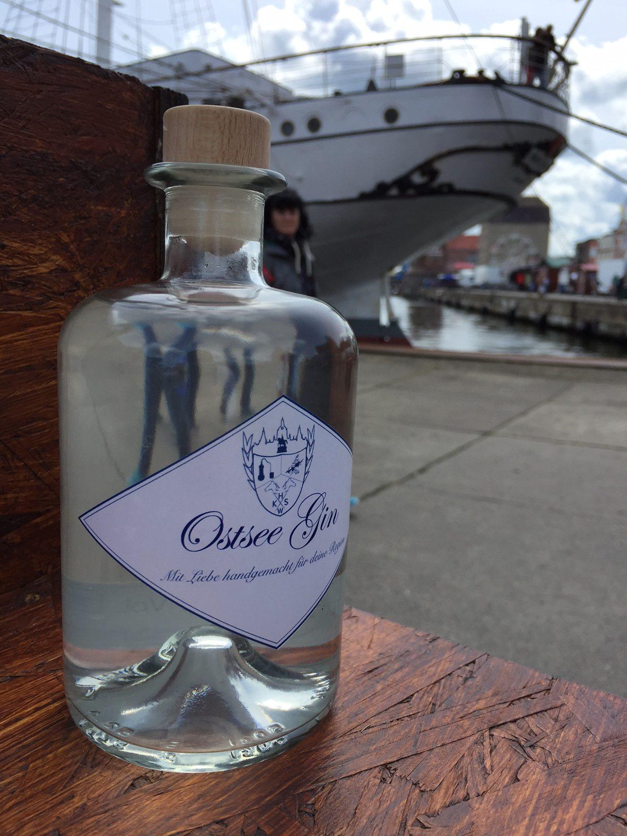 Ostsee Gin in Stralsund