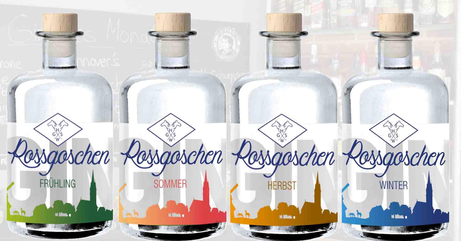 Alle 4 Rossgoschen Gin aus Hannover