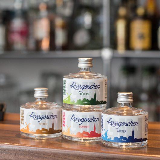 Rossgoschen Gin 4 Jahreszeiten Set von Rossgoschen Spirituosen Manufaktur aus Hannover, Niedersachsen auf Bartresen