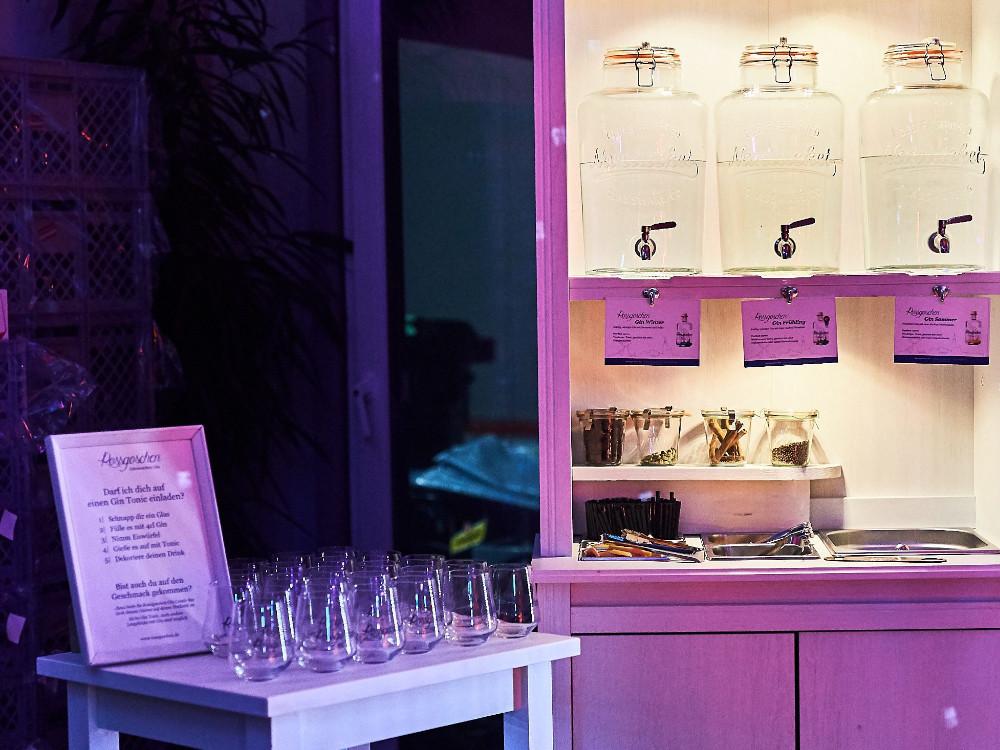 Gin Candy Bar Rossgoschen Spirituosen Manufaktur für Hochzeit und Veranstaltungen