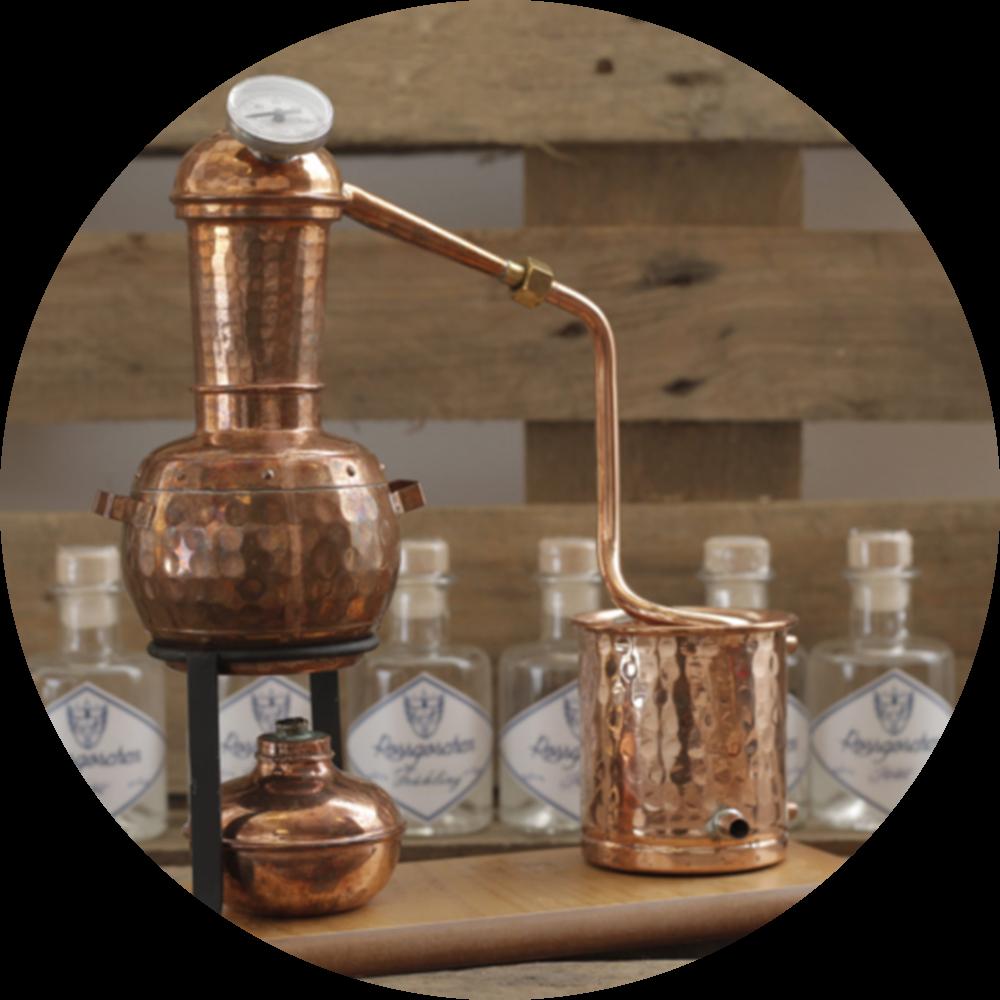 Tischdestille Gin destillieren
