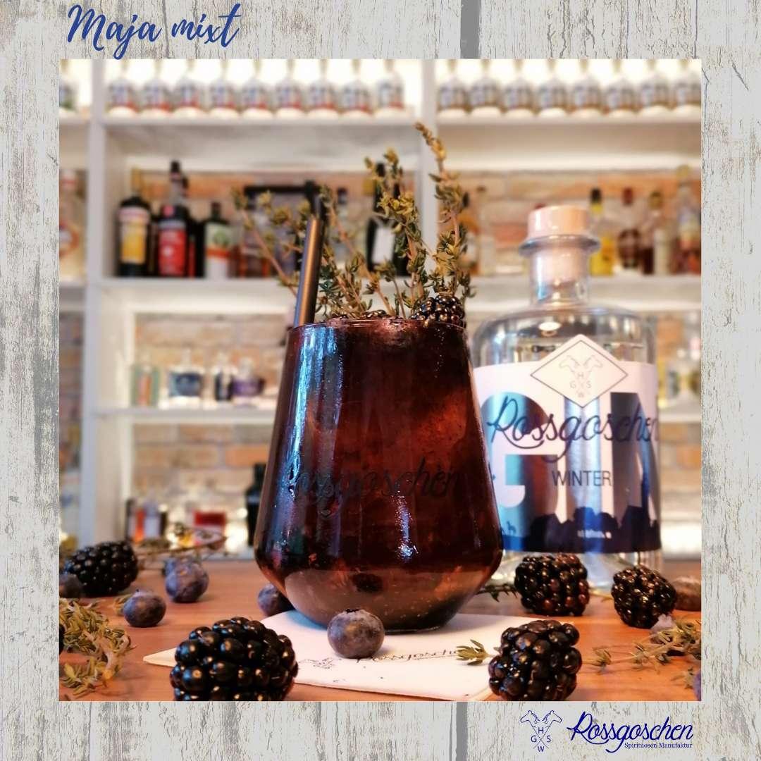 Gin Rezept Dark berry Gin Rossgoschen Spirituosen Manufaktur Hannover
