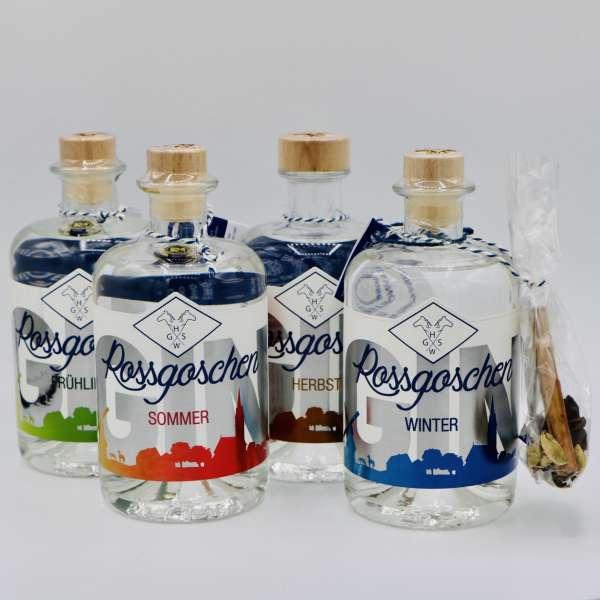 4x Rossgoschen Jahreszeiten Gin von der Rossgoschen Spirituosen Manufaktur Hannover