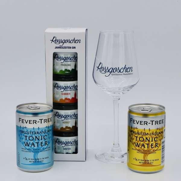 Gin Jahreszeiten Set + Glas inkl. Tonic von der Rossgoschen Spirituosen Manufaktur Hannover