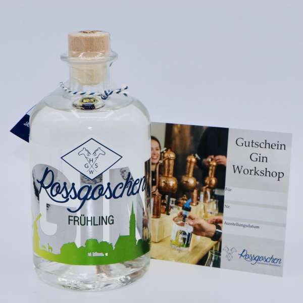 Gutschein Gin Workshop mit Rossgoschen Gin Frühling deiner Wahl von der Rossgoschen Spirituosen Manufaktur Hannover