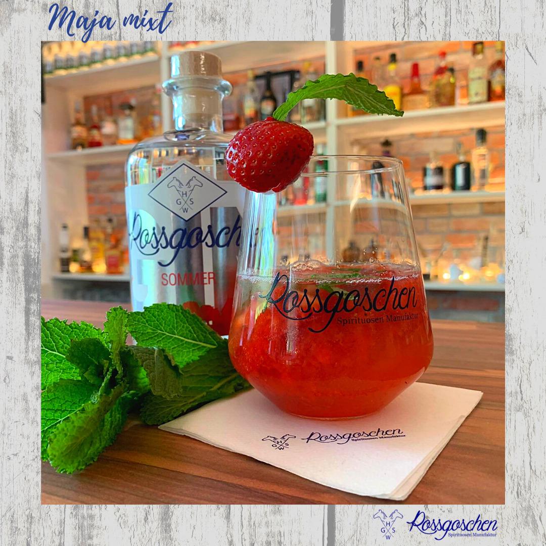 Gin Rezept Erdbeer Mojito Rossgoschen Spirituosen Manufaktur