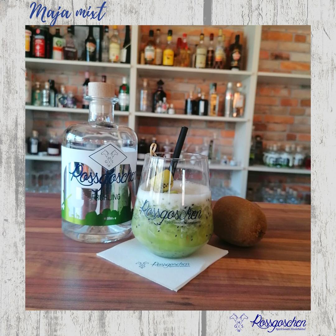 Gin Rezept Kiwi Gin Sour Rossgoschen Spirituosen Manufaktur